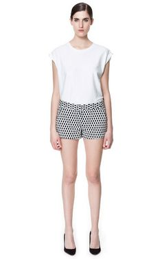 Image 1 of GEOMETRIC PRINT SHORTS from Zara