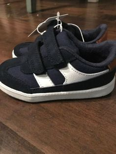 buy online 37855 1814d Sz 8Cat And Jack Boy Boys Tennis Shoes Sneakers Gray  Navy Blue Velcro  Elastic  fashion  clothing  shoes  accessories  kidsclothingshoesaccs   boysshoes ...