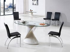 DAKOTA GLASS DINING TABLE