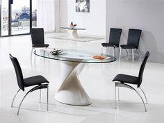 DAKOTA GLASS DINING TABLE
