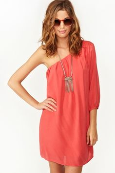 Nasty Gal- Slice Of Heaven Dress - Coral