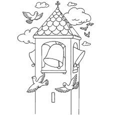 church bells coloring pages - photo#21
