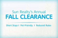 Fall offers reduced rates on vacation rentals.