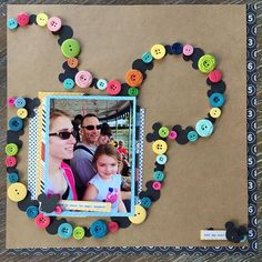 Celebrating NSD with a Button It Challenge!! I think I had a few laying around. 😉#scrapbooking #disneyscrappers #nsd2017 #nsd #octoberafternoon
