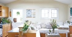 This small space cottage is bringing the outdoors in with loads of plants and natural light and a stunning patio retreat. To make the space feel even bigger, a neutral color palette and furniture piec...