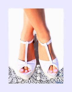Espadrilles sandals for women ~ Open toe wedding shoes romantic.
