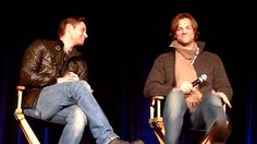 "Jared and Jensen on ""borrowing"" things from the set (VOSTFR) so funny ""I don't wanna go shopping and there's an entire department that shops for a guy that is the same size as me."" lol oh Jensen typical guy lol but Jared's is funnier"