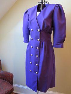 Vintage Stuart Alan Purple Dress on Etsy, $12.00