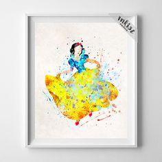 Snow White Art, Snow White Poster, Snow White Print, Disney Princess, Watercolor Art, Disney Poster, Dorm Decor, Type 2, Wall Art. PRICES FROM $9.95. CLICK PHOTO FOR DETAILS.#inkistprints #watercolor #watercolour #giftforher #homedecor #wallart #walldecor #poster #print #christmas #christmasgift #weddinggift #nurserydecor #mothersdaygift #fathersdaygift #babygift #valentinesdaygift #painting #dorm #decor #livingroom #bedroom