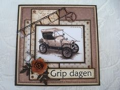 Berits Hobbyblogg: Herrekort Page Layout, Layouts, Greeting Cards, Men's Cards, Scrapbooking, Graphic 45, Masculine Cards, I Card, Cardmaking