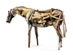 View Palomino By Deborah Butterfield; Access more artwork lots and estimated & realized auction prices on MutualArt. Palomino, Magazine Art, Wood Sculpture, Metallic Paint, Art Market, Contemporary Art, Artwork, Figurative Art, Sculpture