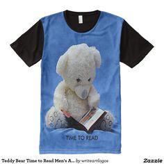 #TeddyBear Time to #Read #Mens #AllOver Printed #Tshir #Zazzle