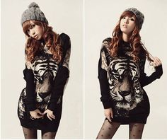 Fashion Women Loose TigerTops Batwing Long Sleeve Pullover Knit  Sweater Jumper #Unbranded #Casual