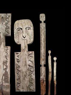 Poteau funeraire Kigango - Mijikenda Giriama Kuma - Tanzanie - Poteaux Vigango - ethnie Mijikenda