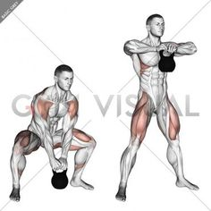 Kettlebell Sumo High Pull - Gym visual building for beginners building men muscle pack abs men pack boys pack workout exercises Fitness Workouts, Fitness Gym, Weight Training Workouts, At Home Workouts, Health Fitness, Body Fitness, Kettlebell Training, Body Training, Workout Kettlebell