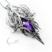 CAGTGHNAR - silver and amethyst. by LUNARIEEN