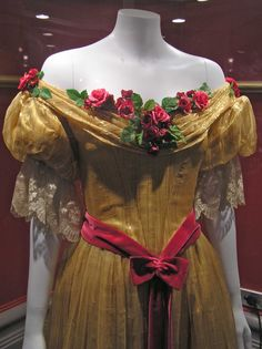 The Young Victoria, Coronation Ball Gown- Once again, flowers and the draped top look gorgeous!