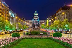 Most Visited Sites, Airfare Deals, Book Cheap Flights, Prague Czech Republic, Prague Castle, Majestic Horse, Travel Articles, Beautiful Buildings, National Museum