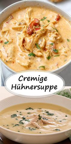 Creamy chicken soup - All Recipes Casserole Recipes, Soup Recipes, Cooking Recipes, Creamy Chicken Casserole, Good Food, Yummy Food, Vegetable Drinks, Cream Of Chicken Soup, Food Menu