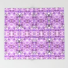 lilac stone flower Throw Blanket