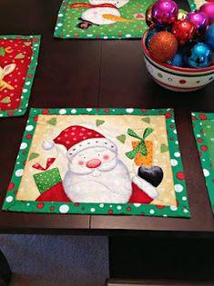 Jane's Fabrics and Quilts Christmas Mug Rugs, Mary Christmas, Christmas Towels, Christmas Placemats, Christmas Runner, Christmas Applique, Christmas Items, Christmas Centerpieces, Christmas Decorations