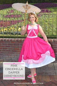 Cinderella Pink Dress look for Dapper Day, pinable image. Cinderella Pink Dress, Disney Inspired Fashion, Disney Fashion, Redhead Baby, Belle Outfit, Disney Dapper Day, Summer Outfits, Summer Dresses, Disney Outfits