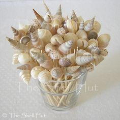 Sea Shell toothpicks-- perfect for a summer party