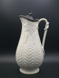 William Brownfield stylish moulded fern jug . He showed this form on the International Exhibition in the catalogue in 1862.
