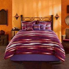 The NEW San Pedro 7-Piece Bedding Comforter is a vibrant Latino-inspired design. Starting at $64.97 plus Free Shipping: http://www.walmart.com/ip/Casa-Mia-San-Pedro-7-Piece-Bedding-Comforter-Set/43836353