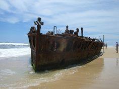 shipwreck, Fraser Island, Australia