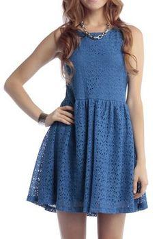 Elaine Eyelit Dress