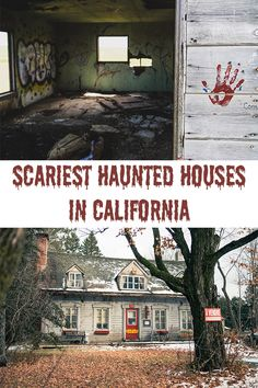 California is a terrifyingly awesome place to get your fright on. Here are 10 of the scariest haunted houses that will paralyze you in fear. Haunted Places In California, Most Haunted Places, Spooky Places, California Homes, California Attractions, Scary Halloween Decorations, Halloween Prop, Halloween Witches, Halloween Quotes
