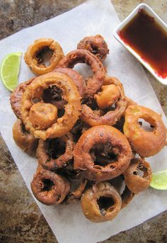 Paleo AIP Vegan Onion Rings from Flash Fiction Kitchen