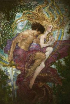 HADES & PERSEPHONE     The mating of Hades And Persephone is such a primal story, filled with conquest, hunger, desperation, and love …                .......just in my feeling ;) .......  Rebecca Guay