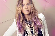 Lilac ombre on blond