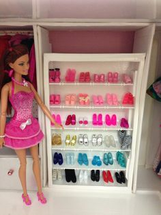 Barbie custom shoe closet