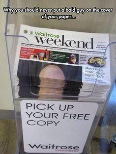 Bald Men Aren't Cover Material