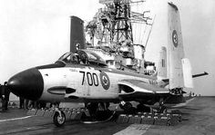 "british-eevee: Banshee of the Royal Canadian Navy on the HMCS Bonaventure "" Royal Canadian Navy, Royal Australian Navy, Canadian Army, Royal Navy, Canadian History, Military Jets, Military Aircraft, Marina Real, Bomba Nuclear"