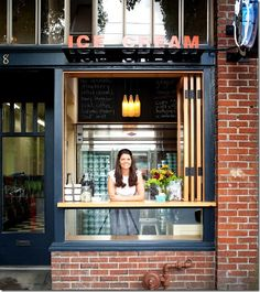 Andie's favourite places to eat in Seattle. Particularly interested in Top Pot Doughnuts, Delancey, Portage Bay Cafe and Molly Moon's Ice Cream! -from Can You Stay for Dinner. Gonna try to get to these spots on this trip! Cafe Shop, Cafe Bar, Cafe Restaurant, Restaurant Design, Modern Restaurant, Small Coffee Shop, Coffee Shop Design, Mein Café, Gelato Shop