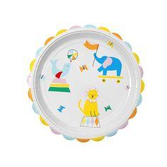 Diese süßen Pappteller  im Zirkus Tier Design sind die perfekte Tischdekoration für eine Zirkus Kinderparty. Die Meri Meri - Pappteller Silly Circus bekommt ihr bei www.party-princess.de. Kindergeburtstag