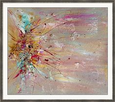 Abstract Painting Canvas Print Gold Art Minimalist