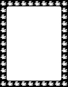 Printable ghost border. Free GIF, JPG, PDF, and PNG downloads at http://pageborders.org/download/ghost-border/. EPS and AI versions are also available.