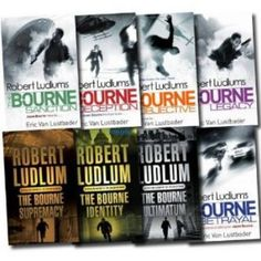 Robert Ludlum's Bourne Series. I absolutely LOVE these books. They keep you in the edge of your seat, wondering what Jason will be into next.