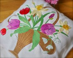 Check out this item in my Etsy shop https://www.etsy.com/uk/listing/491207306/hand-embroidered-vintage-floral-linen