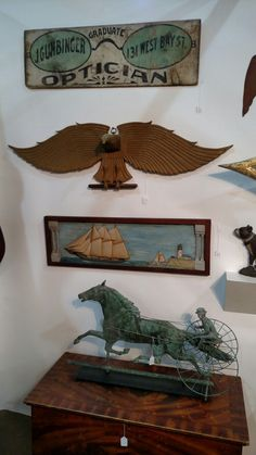 Antique Trade Signs, Weathervanes, and Folk Art