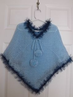 How To Loom Knit A Girls Poncho