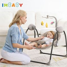 IMBABY Multi-functional Rocking Chair | 0-36 months  Price: 191.00 & FREE Shipping  #mybaby Baby Bouncer Seat, Best Baby Bouncer, Swinging Chair, Rocking Chair, Newborn Swing, Baby Swings And Bouncers, Double Usage, Baby Rocker, Baby Comforter