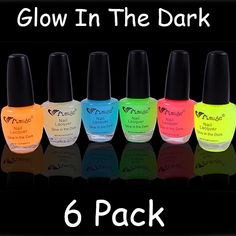 Glow In The Dark Nail Polish (6 Pack)