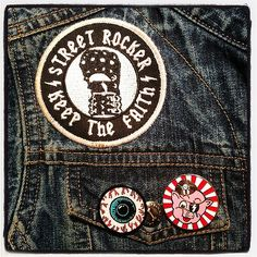 Jimmy loves enamel pins and patches! #patchesinaction #streetrocker #enamelpins #eyeball #porkface #lilpigs #porkshop | Flickr - Photo Sharing!
