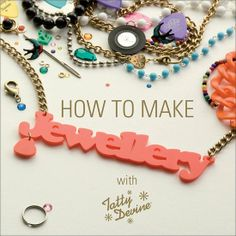 Christmas Presents For a Crafty Fashion Fan. How to make Jewellery book from Tatty Devine #gifts #Christmas #craft